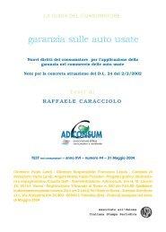 Garanzia sulle auto usate - Adiconsum - Provincia di Ferrara