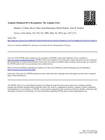 Arginine-Mediated RNA Recognition: The Arginine ... - ResearchGate