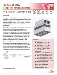 Ka-Band 12-160W Solid State Power Amplifiers - ServSat ...