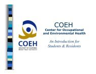 An Introduction for Students & Residents - Center for Occupational ...