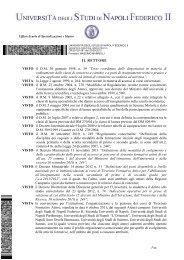 Bando - Università degli Studi di Napoli Federico II
