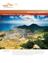 Mining Logistics - Agility