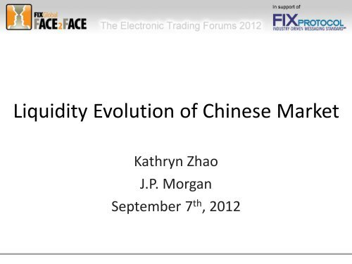 Liquidity Evolution of Chinese Market - Plus Concepts
