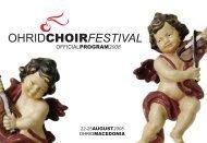 OCF2008 Program - Ohrid Choir Festival