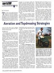 Aeration andTopdressing Strategies