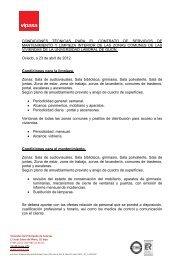 Características Técnicas - Vipasa