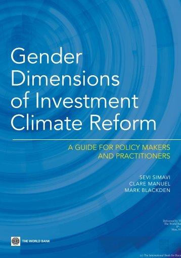 Gender Dimensions of Investment Climate Reform (2010)