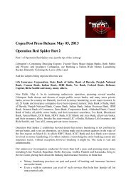 Copra Post Press Release Operation Red Spider ... - Frank-CS.org