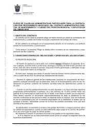 Pliego de cláusulas administrativas particulares - Ayuntamiento de ...