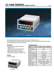 CI-1500 SERIES Weighing Indicator - KODA