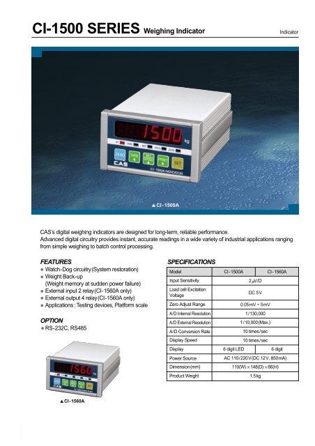 CI-1500 SERIES Weighing Indicator - KODA