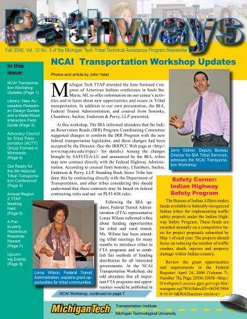 Pathways Volume 12, No. 3 Fall 2006 - Michigan Tech Tribal ...