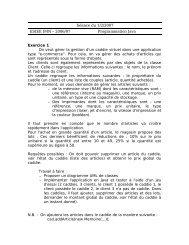 Séance du 1/2/2007 ESIEE IMN – 2006/07 Programmation Java ...