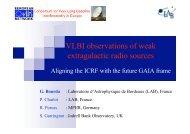 VLBI observations of weak extragalactic radio sources
