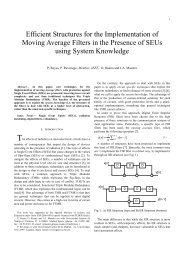Efficient Structures for the Implementation of Moving Average Filters ...