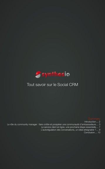 Tout savoir sur le Social CRM - Synthesio