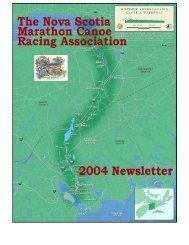 N.S. Marathon Canoe Home Page - Chebucto Community Net