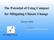 Johannes Biala, The Organic Force - Compost Council of Canada
