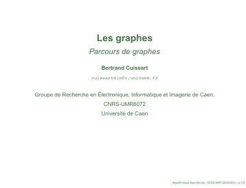 Les parcours de graphes - Bertrand Cuissart
