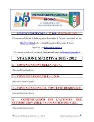 COMUNICATO n.25 del 17/01/2012 - FIGC