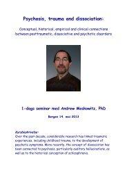 Psychosis, trauma and dissociation: