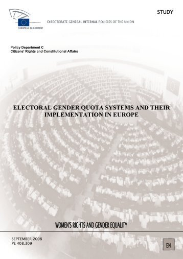 Electoral gender quotas systems and their implementation in Europe