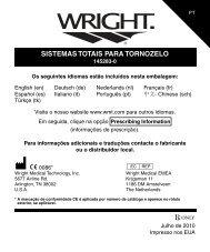 sistemas totais para tornozelo - Wright Medical Technology, Inc.