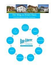 Der Weg zu Ihrem Haus - Ederer Hausbau GmbH