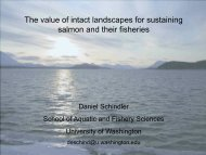 The value of intact landscapes for sustaining salmon and their ...