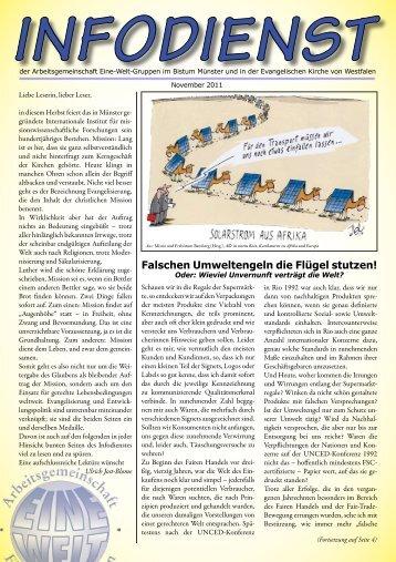 Infodienst November 2011 - Arbeitsgemeinschaft Eine - Welt ...