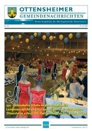 Gemeindenachrichten Nr. 322 (1,5 MB) - Marktgemeinde Ottensheim