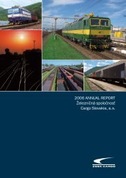 Annual Report 2006 - ZSSK Cargo