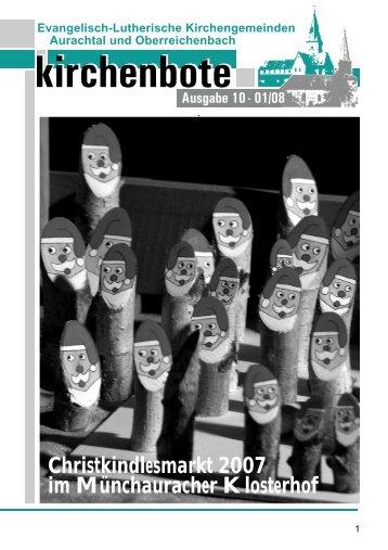 kirchenbote kirchenbote - luth. Kirchengemeinde Aurachtal