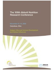 The 109th Abbott Nutrition Research Conference