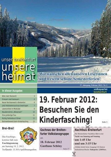 Kinderfasching in der Mehrzweckhalle am 19.2.2012 ... - VP Breitenfurt
