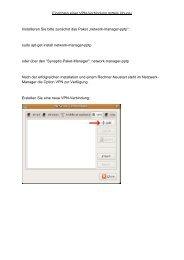 Einrichten einer VPN-Verbindung mittels Ubuntu Installieren Sie ...
