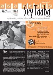 Seg Taaba - Volume 2009 - n°1 - Compétences ... - IED afrique