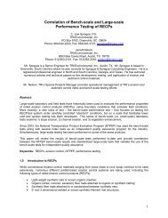 Correlation of Bench-scale and Large-scale Performance Testing of ...