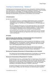 Vorschlag 2 zur Stadtentwicklung -