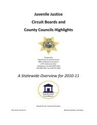 A Statewide Overview for 2010-11 - Florida Department of Juvenile ...