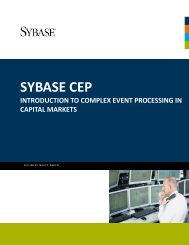 Sybase CEP White Paper