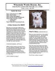 NewsLetter #03 2007 March - Wisconsin Westie Rescue