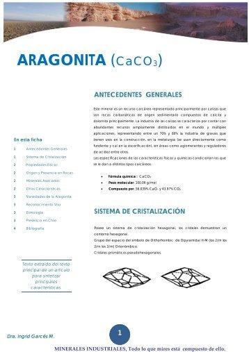 ARAGONITA (CaCO3)· - Universidad de Antofagasta