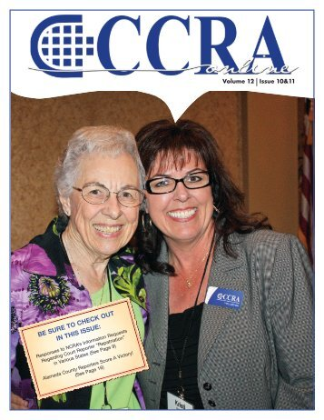 Volume 12 Issue 10 & 11 - California Court Reporters Association