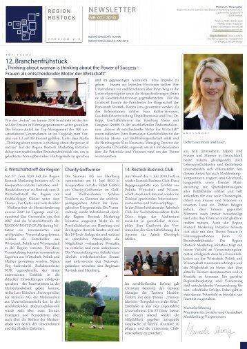 RMI Newsletter II 2010 - Region Rostock Marketing Initiative e.V.
