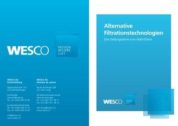 Alternative Filtrationstechnologien - Wesco