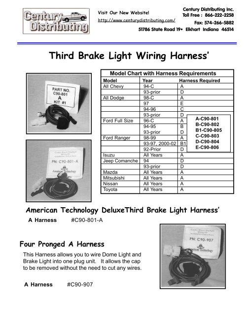 pintrailerwiringharnessdiagramwiringdiagramfor4pintrailerthird brake light wiring harness schematic diagram downloadthird brake light wiring harness\\\\u0027 century