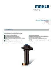 Anbau-Rücklauffilter Pi 530 - MAHLE Industry - Filtration