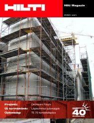 Hilti Magazin 2008/8. szám - WebDream