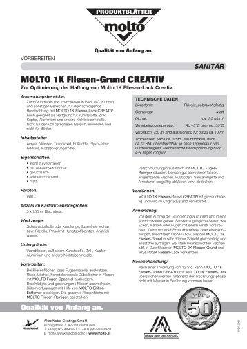 MOLTO 1K Fliesen-Grund CREATIV